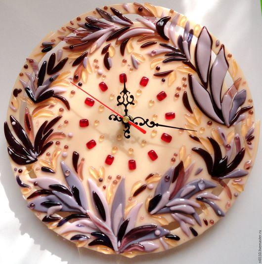 """Часы для дома ручной работы. Ярмарка Мастеров - ручная работа. Купить Часы """"Дивный сад"""". Handmade. Комбинированный"""