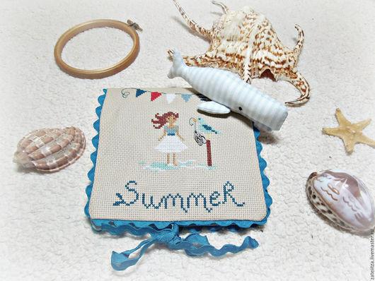 Персональные подарки ручной работы. Ярмарка Мастеров - ручная работа. Купить Шум моря. Handmade. Голубой, вышивка на заказ