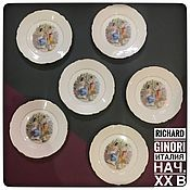 Винтаж handmade. Livemaster - original item Plate Antique ladies Italy Richard Ginori antique (972. Handmade.