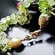 Браслеты ручной работы. Браслет из натуральных камней жемчуга морского зеленый золотой золото. MariaCossuttaMonaco. Интернет-магазин Ярмарка Мастеров.