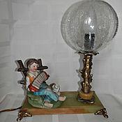 Винтаж ручной работы. Ярмарка Мастеров - ручная работа Винтажная   лампа светильник ночник. Handmade.