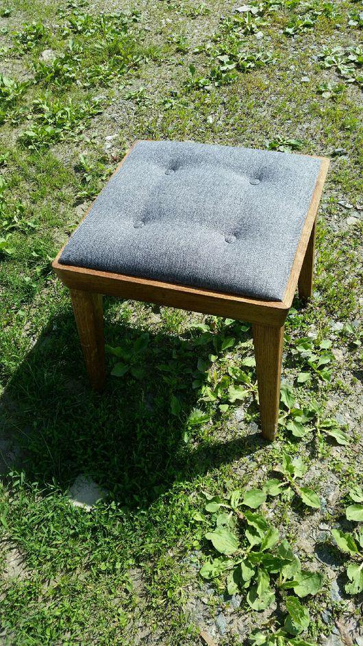 Мебель ручной работы. Ярмарка Мастеров - ручная работа. Купить Табуретка из дуба мягкая. Handmade. Табурет, мягкий табурет, Дуб