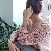 Джемперы ручной работы. Ярмарка Мастеров - ручная работа Вязаный женский джемпер хлопковый свитер. Handmade.