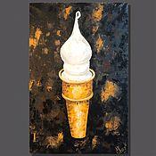 Картины и панно handmade. Livemaster - original item Oil painting: WAFFLE CONE, oil on canvas, 40h60 cm, pop art. Handmade.