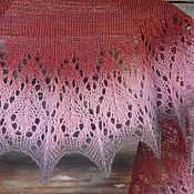 Аксессуары handmade. Livemaster - original item Mini Rose and Chocolate shawl openwork knitting needles. Handmade.