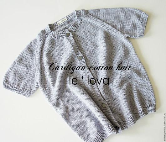 Кофты и свитера ручной работы. Ярмарка Мастеров - ручная работа. Купить Вязаная кофточка из хлопка цвет Светло-серый. Handmade.