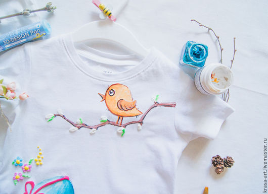 Одежда унисекс ручной работы. Ярмарка Мастеров - ручная работа. Купить детская футболка Светлая Пасха. Handmade. Белый, Пасха