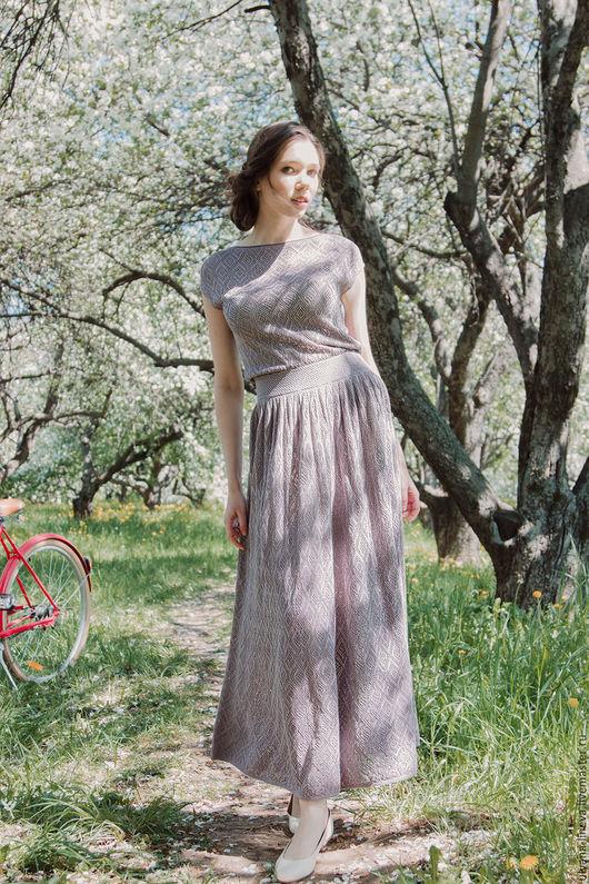 Платья ручной работы. Ярмарка Мастеров - ручная работа. Купить платье женское арт.1602V06. Handmade. Сиреневый, вязаное платье