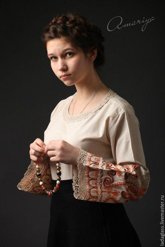 Блузки ручной работы. Ярмарка Мастеров - ручная работа. Купить Блуза из прабабушкиного рушника. Handmade. Рыжий, ручная вышивка