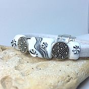 Украшения handmade. Livemaster - original item Bracelet style regaliz black - and- white classics. Handmade.