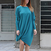 Одежда handmade. Livemaster - original item Dream cotton tunic with long sleeves-TU0545TR. Handmade.