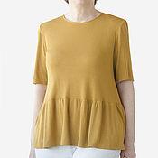 Одежда handmade. Livemaster - original item Knitted blouse with wide peplum. Handmade.