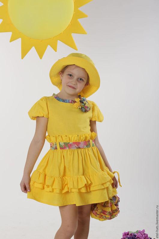 """Одежда для девочек, ручной работы. Ярмарка Мастеров - ручная работа. Купить платье для девочки """"Одуванчик"""". Handmade. Платье, Платье нарядное"""