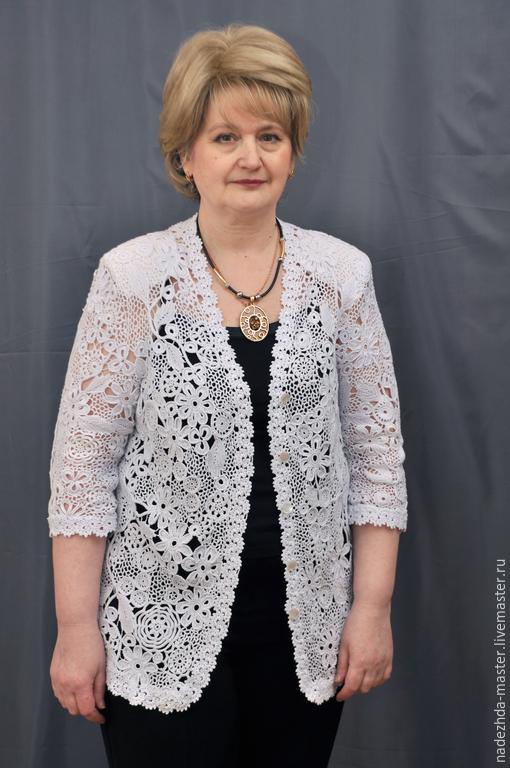 Пиджаки, жакеты ручной работы. Ярмарка Мастеров - ручная работа. Купить Жакет Нарядный, жакет ажурный, ирландское кружево. Handmade.