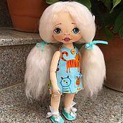Куклы и игрушки ручной работы. Ярмарка Мастеров - ручная работа Кити. Текстильная кукла.. Handmade.