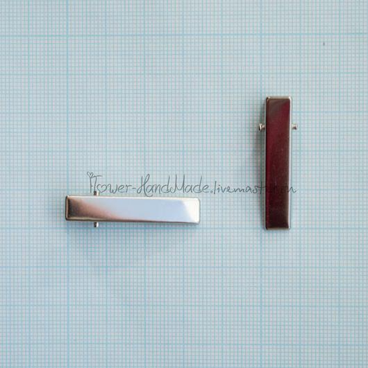 Для украшений ручной работы. Ярмарка Мастеров - ручная работа. Купить Ф017 Основа для заколки 3,5 см Крокодильчик прямой. Handmade.