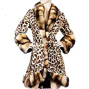 Одежда handmade. Livemaster - original item Coat from fur of a goat and a ferret. Handmade.