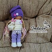 Тыквоголовка ручной работы. Ярмарка Мастеров - ручная работа Патрисия. Интерьерная текстильная кукла («глициния и жасмин»). Handmade.