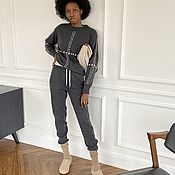 Одежда handmade. Livemaster - original item Knitted suit with trim. Handmade.