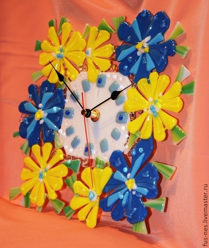 Часы для дома ручной работы. Ярмарка Мастеров - ручная работа Изобилие лета. Handmade.
