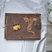 """Фотоальбомы ручной работы. Ярмарка Мастеров - ручная работа Фотоальбом """"Книга дракона"""". Handmade."""
