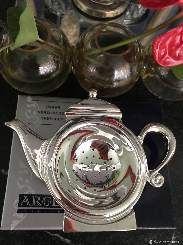 Strainer 'Teapot', silver-plated, Holland, Vintage Souvenirs, Arnhem,  Фото №1