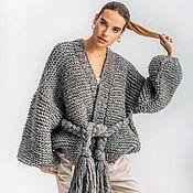 Одежда handmade. Livemaster - original item Grey cardigan oversized. Handmade.