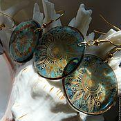 Украшения handmade. Livemaster - original item VINTAGE earrings transparent. Handmade.