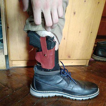 Сувениры и подарки ручной работы. Ярмарка Мастеров - ручная работа Кобура на ногу. Handmade.