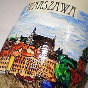 """Посуда ручной работы. Ярмарка Мастеров - ручная работа Чашка """"Варшава"""" (0766). Handmade."""