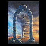 """Картины и панно ручной работы. Ярмарка Мастеров - ручная работа Коллекционная  картина """"Двери, которых нет 131: Врата бури"""". Handmade."""