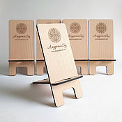 Подставки ручной работы. Ярмарка Мастеров - ручная работа Деревянная подставка для телефона с гравировкой. Handmade.