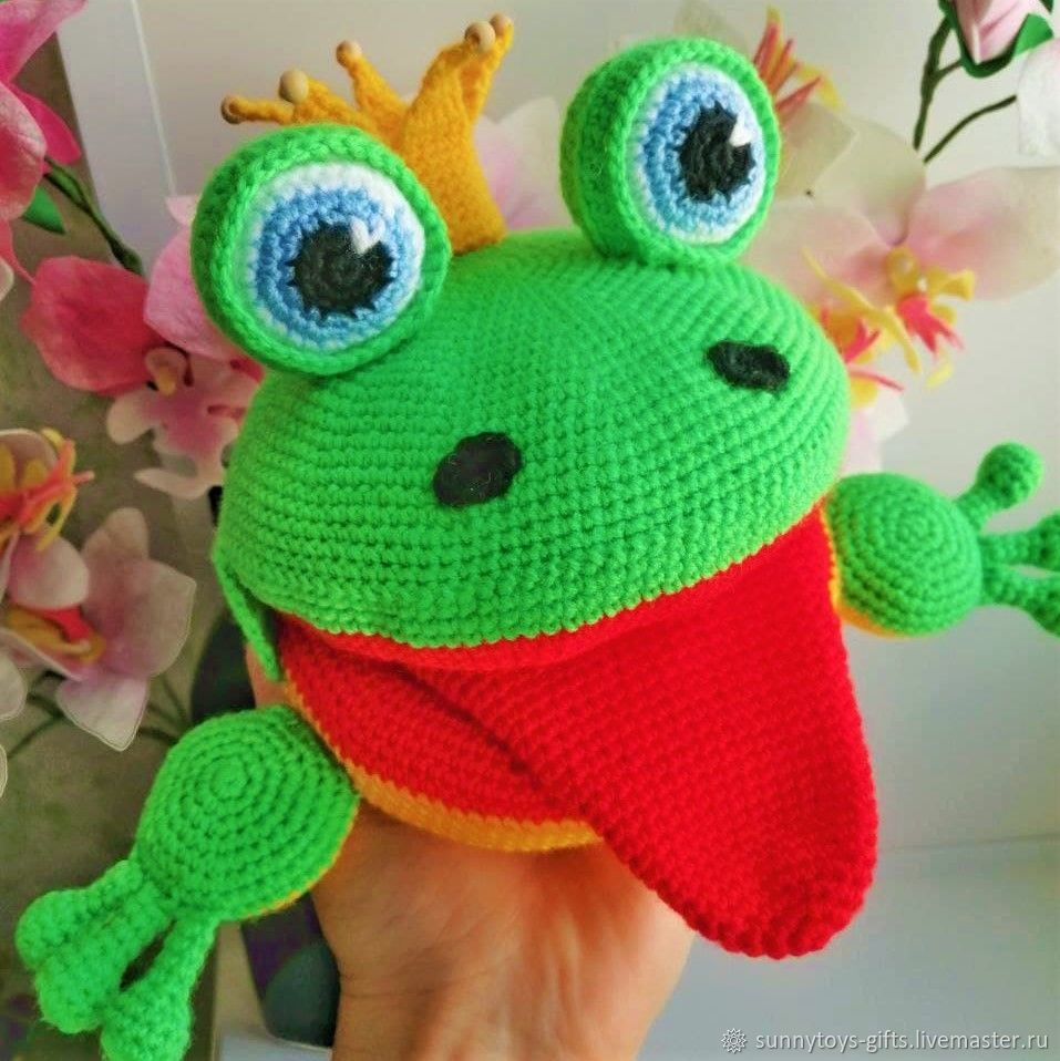 Frog Talker Speech Therapy doll Knitted Frog, Puppet show, Berezovsky,  Фото №1