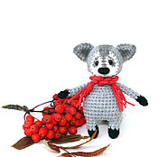 Куклы и игрушки ручной работы. Ярмарка Мастеров - ручная работа Енот. Енот вязаный,  вязаный енотик Тиша (игрушки еноты, енотики). Handmade.