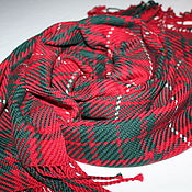 Аксессуары handmade. Livemaster - original item Woven scarf handmade. Tartan.. Handmade.