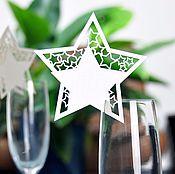 """Открытки ручной работы. Ярмарка Мастеров - ручная работа Карточка на бокал """"Звезда"""". Handmade."""