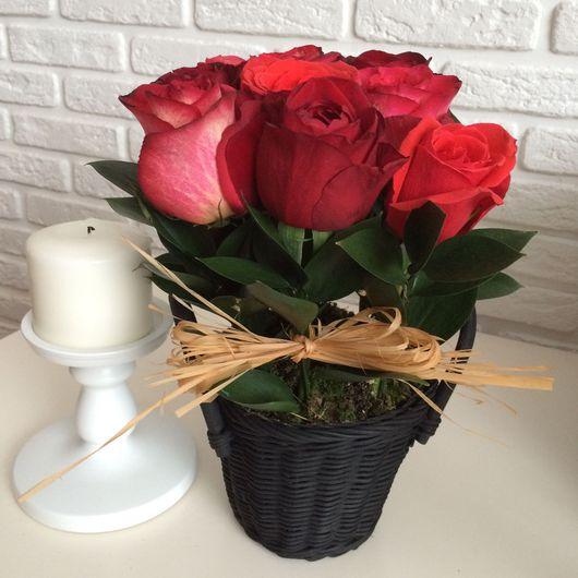 Букеты ручной работы. Ярмарка Мастеров - ручная работа. Купить Букет из эквадорских роз. Handmade. Букет цветов, день рождения