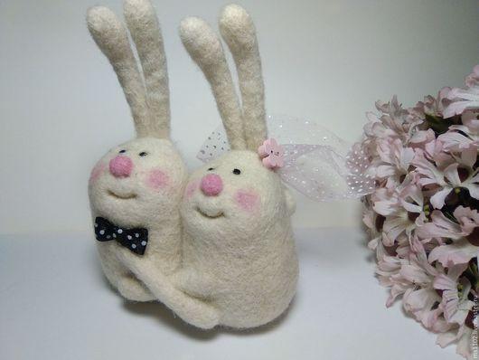 Зайцы```ВМЕСТЕ`-900руб(фата,бабочка,цветок) Жених+Невеста