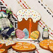 """Подарки к праздникам ручной работы. Ярмарка Мастеров - ручная работа Имбирный пряник """"Кулич с яичками"""". Handmade."""