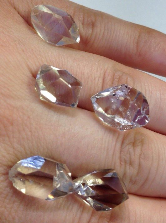 Для украшений ручной работы. Ярмарка Мастеров - ручная работа. Купить Херкимерские алмазы ( средней величины ). Handmade.