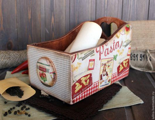 """Кухня ручной работы. Ярмарка Мастеров - ручная работа. Купить Короб для кухни """"Pasta"""". Handmade. Комбинированный, для специй"""