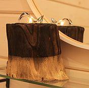 Для дома и интерьера ручной работы. Ярмарка Мастеров - ручная работа подсвечник деревянный на одну свечу. Handmade.