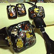 """Украшения ручной работы. Ярмарка Мастеров - ручная работа комплект """" элегия""""  ( браслет, кулон, серьги). Handmade."""