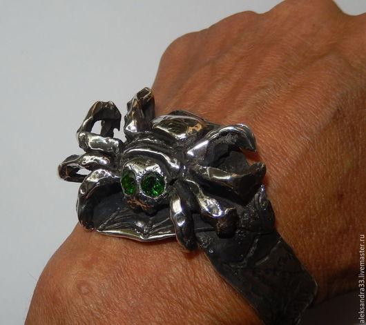"""Браслеты ручной работы. Ярмарка Мастеров - ручная работа. Купить """"Паук"""" серебряный браслет. Handmade. Серебряный, серебряный браслет"""