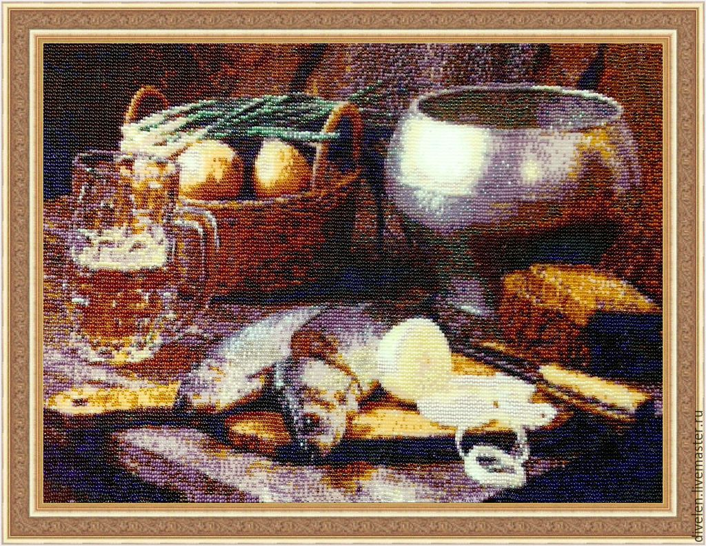 Tapestry bead still life TABLE, Pictures, Divnogorsk,  Фото №1