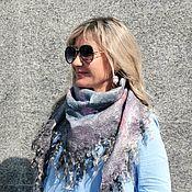 Аксессуары handmade. Livemaster - original item Bacchus felted Triangular scarf scarf bilateral. Handmade.