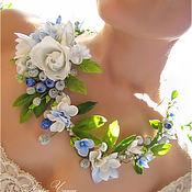 Свадебный салон ручной работы. Ярмарка Мастеров - ручная работа Свадебный венок с белыми розами. Handmade.