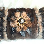 Аксессуары handmade. Livemaster - original item The fur Muff of mink. Handmade.