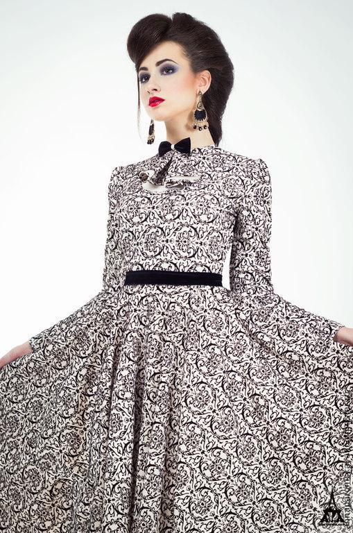 """Платья ручной работы. Ярмарка Мастеров - ручная работа. Купить Платье """"Диор"""". Handmade. Чёрно-белый, красивое платье"""