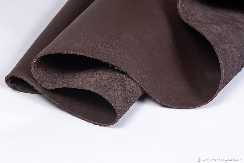 Натуральная кожа.Чепрак КОРИЧНЕВЫЙ 3.2-3.4 мм, Кожа, Санкт-Петербург,  Фото №1